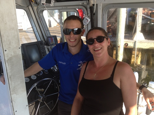 Janine of TNS on Board Water Taxi with Graduate